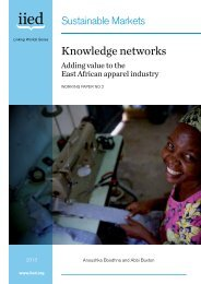 Knowledge networks - IIED pubs - International Institute for ...