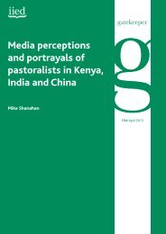 Media perceptions and portrayals of pastoralists in ... - IIED pubs