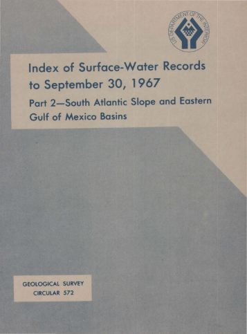 Index of Surface-Water Records to September 30, 1967
