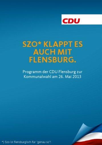 wir wollen ein breites Angebot - CDU Flensburg