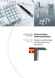 German and Swiss Architectual Hardware Schlösser und ... - Deni