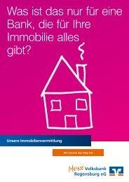 Immobilien-Broschüre - Volksbank Regensburg eG
