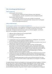 Erläuterungen CAS Forschung und Kunstwissen