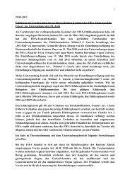 Erklärung von Hans-Joachim Eckert zur Untersuchung ... - FIFA.com