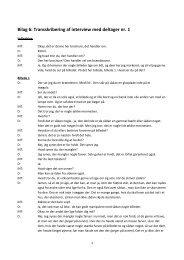 Bilag 6: Transskribering af interview med deltager nr. 1 - PURE