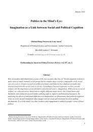 Politics in the Mind s Eye Petersen Aar e APSR 2013 - PURE