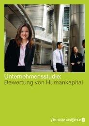 Unternehmensstudie: Bewertung von Humankapital - PwCPlus