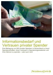 Informationsbedarf und Vertrauen privater Spender - PwCPlus