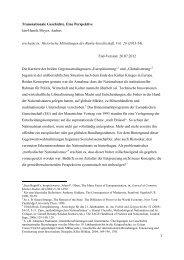 Transnationale Geschichte. Eine Perspektive Jan-Henrik ... - PURE