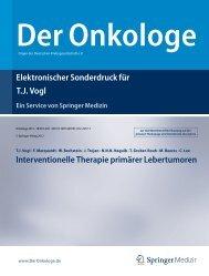 Interventionelle Therapie primärer Lebertumoren - Institut für ...