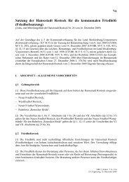 Satzung der Hansestadt Rostock für die kommunalen Friedhöfe ...