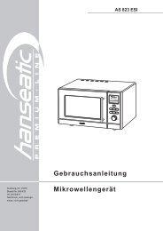AS 823 ESI Gebrauchsanleitung Mikrowellengerät