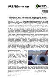 Pressemitteilung. - BUND Kreisgruppe Region Hannover