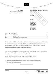 PUBLIC - Öffentliches Register der Ratsdokumente - Europa