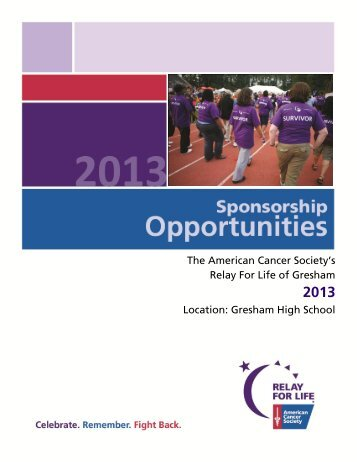 Gresham High School - Relay for Life
