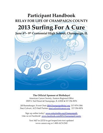 2013 RELAY Participant Team Handbook - Relay for Life