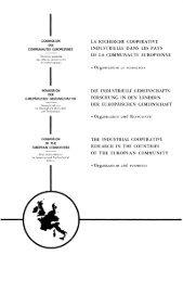 la recherche cooperative industrielle dans les pays de la ...