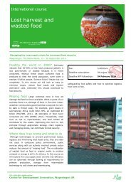 Lost harvest and wasted food - ReliefWeb