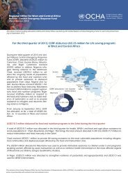 For the third quarter of 2013, CERF disburses US$ 25 ... - ReliefWeb