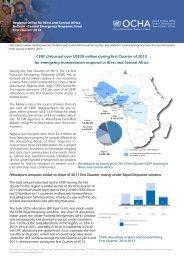 CERF disbursed over US$28 million during first Quarter ... - ReliefWeb