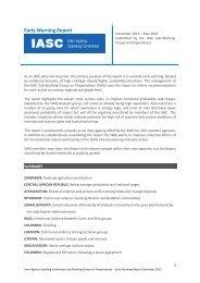 IASC Early Warning Report - December 2013 - HumanitarianInfo.org