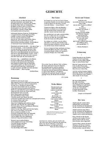 Diese Gedichtesammlung in einem PDF-Document - Reocities