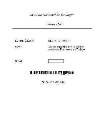 Instituto Nacional de Ecología Libros INE