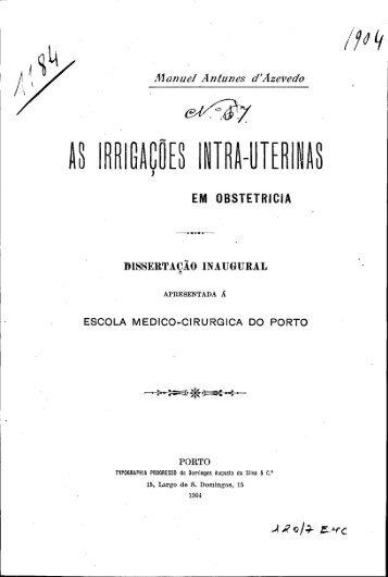 \\ IRRIGAÇÕES INTRA-UTER