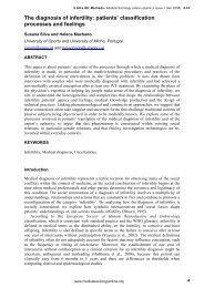 The diagnosis of infertility - Universidade do Minho