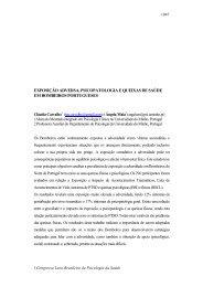 exposição adversa, psicopatologia e queixas de saúde em ...