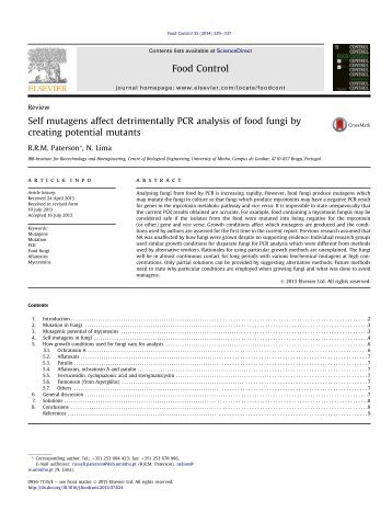 Self mutagens affect detrimentally PCR analysis of food fungi by ...