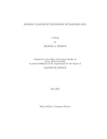 BAYESIAN ANALYSIS OF TRANSPOSON ... - Repository