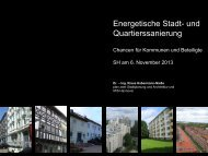 Energetische Stadt- und Quartierssanierung