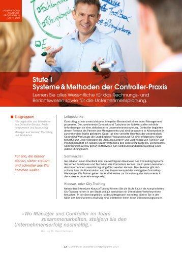 Stufe I Systeme & Methoden der Controller-Praxis