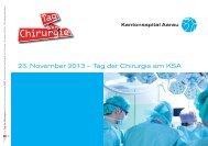 Tag der Chirurgie am KSA - Kantonsspital Aarau