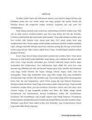 analisis konsep seni arsitektur pada karya kenzo tange - USU ...