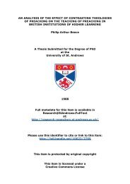 Philip Arthur Bence PhD Thesis - Research@StAndrews:FullText