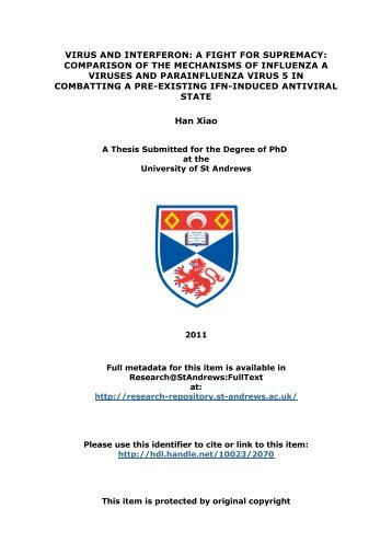 Han Xiao PhD thesis - Research@StAndrews:FullText - University of ...