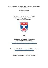 P. Derek Overfield PhD Thesis - Research@StAndrews:FullText