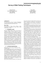 Survey of Web Testing Techniques - International Journal of ...
