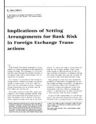 Implications of Netting Arrangement for Bank Risk in Foreign ...