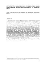 effect of the incorporation of mesoporous silica particles on ... - RiuNet
