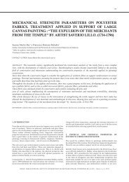 mechanical strength parameters on polyester fabrics ... - RiuNet