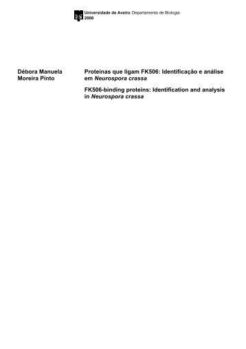 Identificação e análise em Neurospora crassa FK506-binding proteins