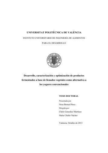 UNIVERSITAT POLITÈCNICA DE VALÈNCIA Desarrollo ... - RiuNet