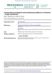 Conservative ecological and evolutionary patterns in liverwort ...