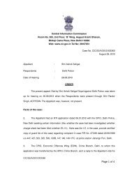Decision No. CIC/SS/A/2012/003360 dated 29-08-2013 on Appeal ...