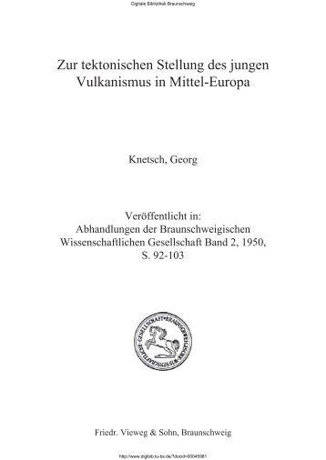 Zur tektonischen Stellung des jungen Vulkanismus in Mittel-Europa