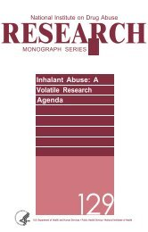 Inhalant Abuse: A Volatile Research Agenda, 129
