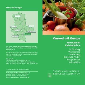 Flyer Kochkurs für Krebsbetroffene überregional - Sachsen ...